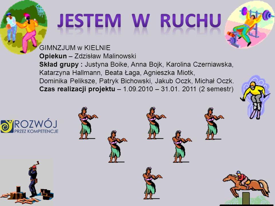 GIMNZJUM w KIELNIE Opiekun – Zdzisław Malinowski Skład grupy : Justyna Boike, Anna Bojk, Karolina Czerniawska, Katarzyna Hallmann, Beata Łaga, Agniesz