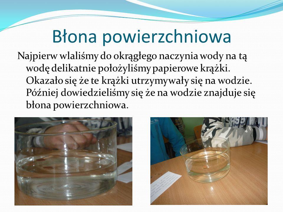 Dyfuzja Do szklanego pojemnika wlaliśmy wody i zielonego barwnika.