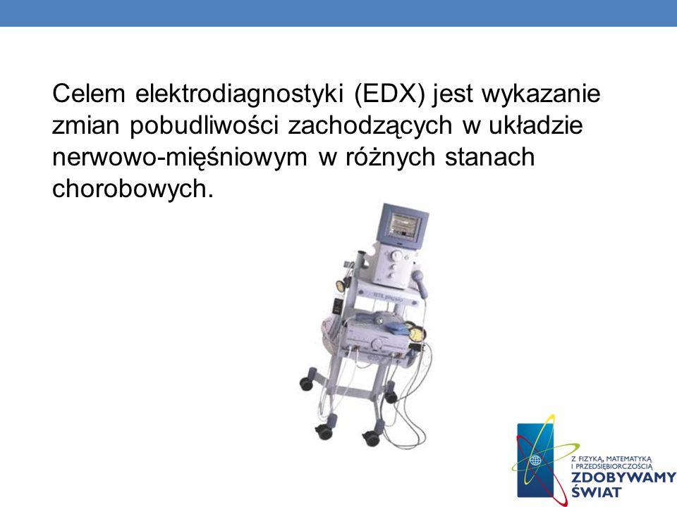 Celem elektrodiagnostyki (EDX) jest wykazanie zmian pobudliwości zachodzących w układzie nerwowo-mięśniowym w różnych stanach chorobowych.