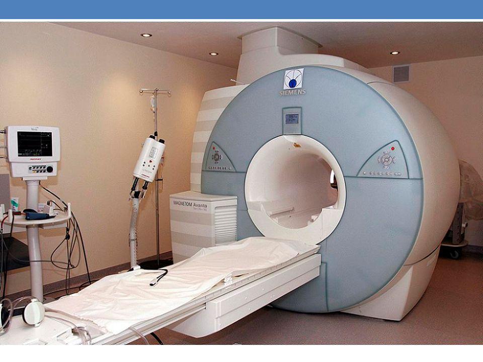 Badanie rezonansem magnetycznym (w skrócie nazywane MR lub MRI) wykorzystuje oddziaływanie fal o częstotliwości radiowej na protony, które znajdują si