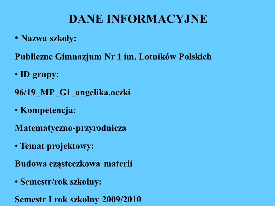 Nazwa szkoły: Publiczne Gimnazjum Nr 1 im. Lotników Polskich ID grupy: 96/19_MP_G1_angelika.oczki Kompetencja: Matematyczno-przyrodnicza Temat projekt