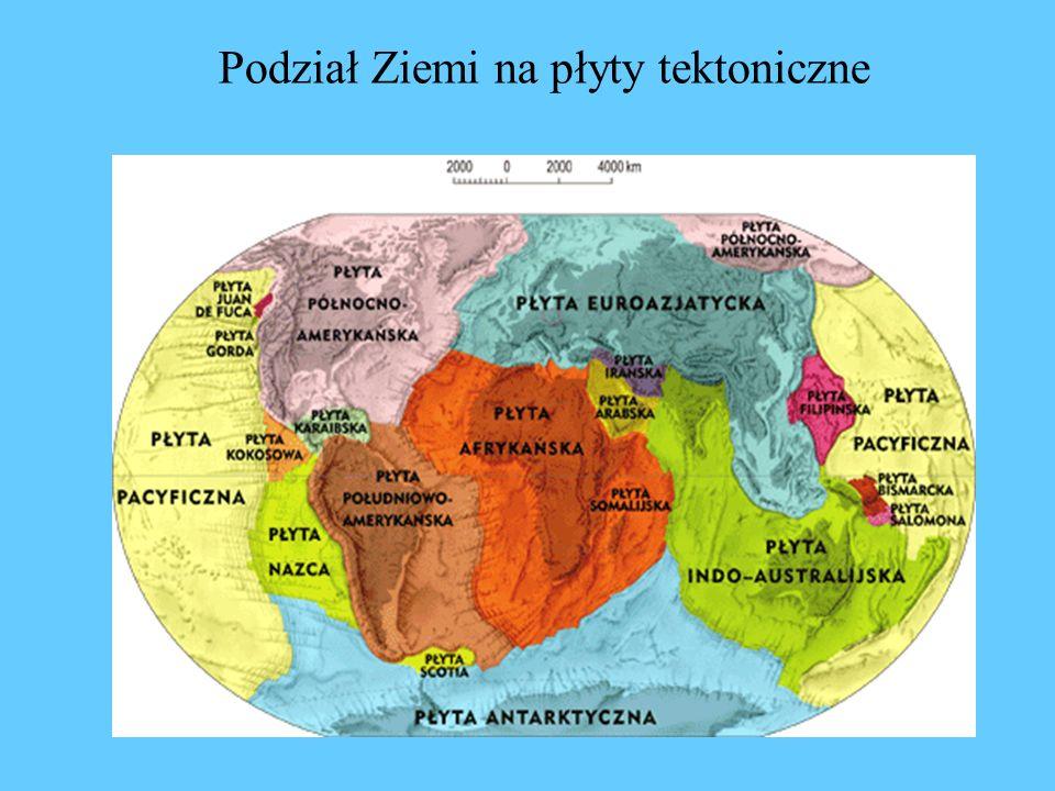 Podział Ziemi na płyty tektoniczne