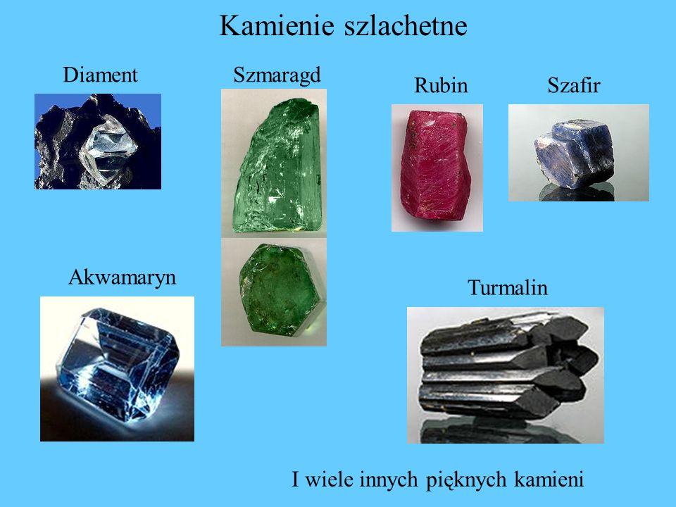 Kamienie szlachetne DiamentSzmaragd RubinSzafir Turmalin Akwamaryn I wiele innych pięknych kamieni