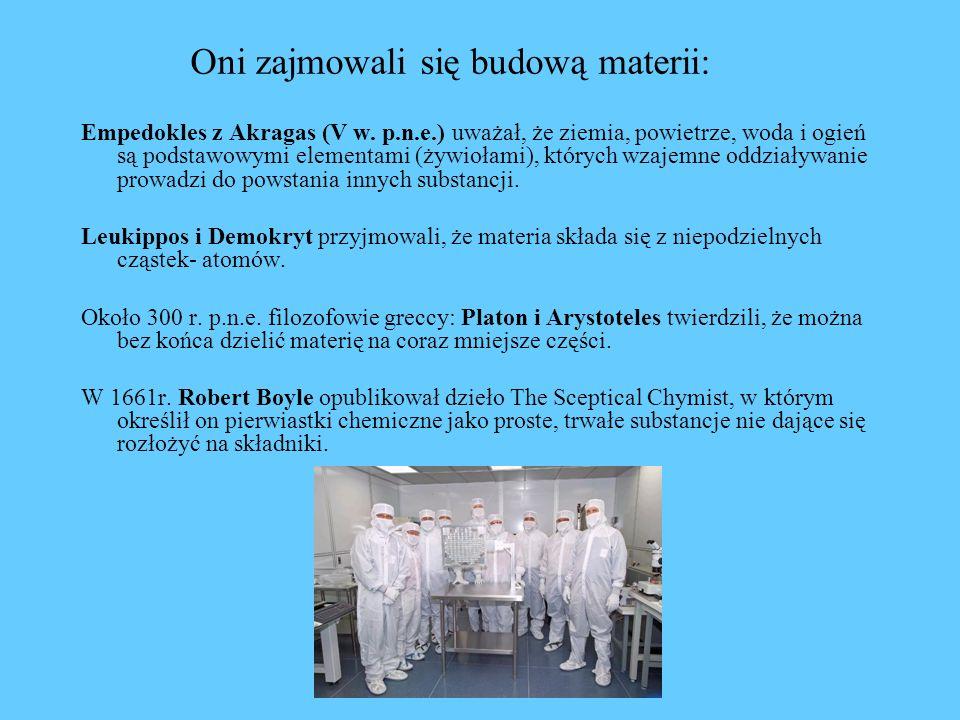 Oni zajmowali się budową materii: Empedokles z Akragas (V w.