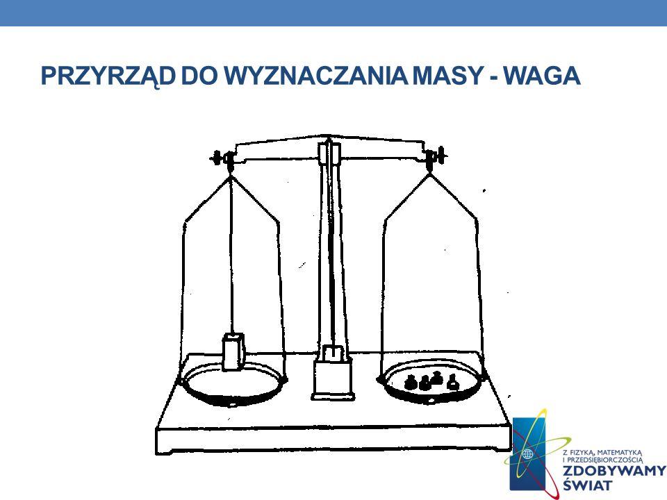 PRZYRZĄD DO WYZNACZANIA MASY - WAGA