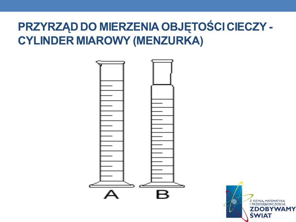 PRZYRZĄD DO MIERZENIA OBJĘTOŚCI CIECZY - CYLINDER MIAROWY (MENZURKA)