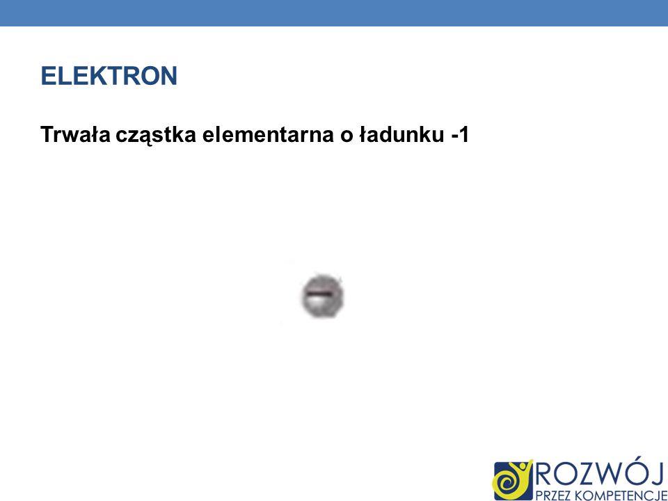 ELEKTRON Trwała cząstka elementarna o ładunku -1