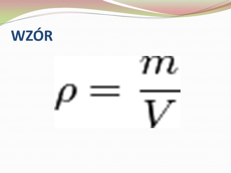 Jednostką gęstości w układzie SI jest kilogram na metr sześcienny – kg/m³