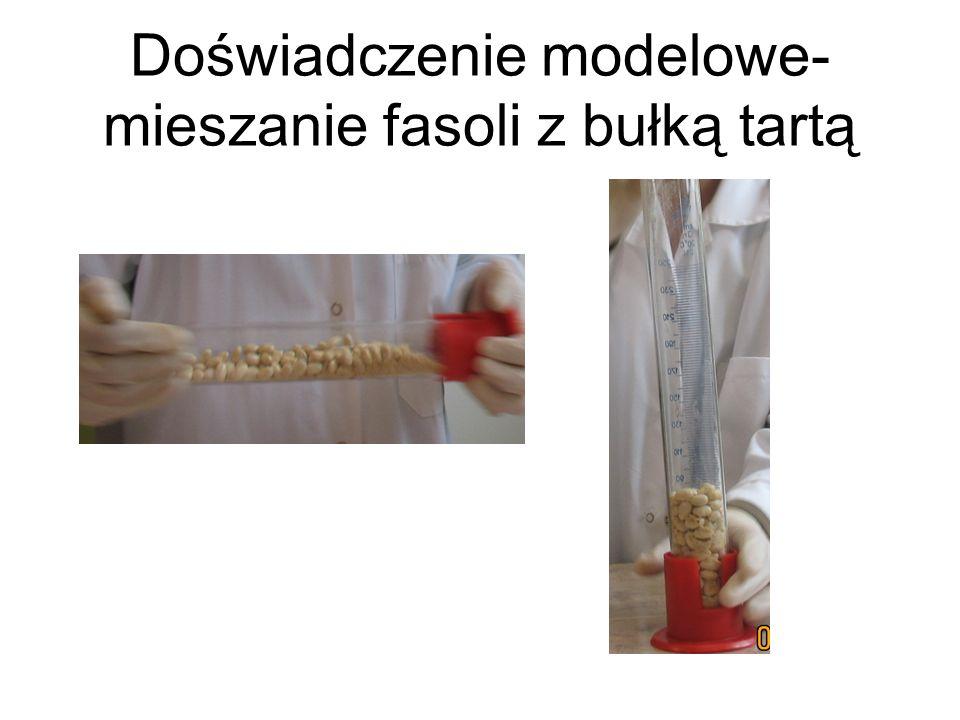 Doświadczenie modelowe- mieszanie fasoli z bułką tartą