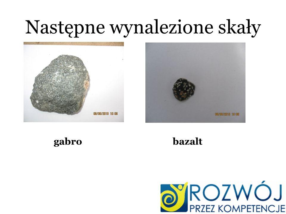 Następne wynalezione skały gabrobazalt
