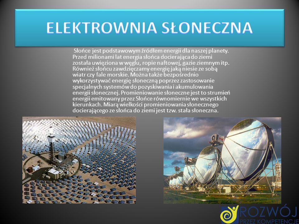 Słońce jest podstawowym źródłem energii dla naszej planety. Przed milionami lat energia słońca docierająca do ziemi została uwięziona w węglu, ropie n