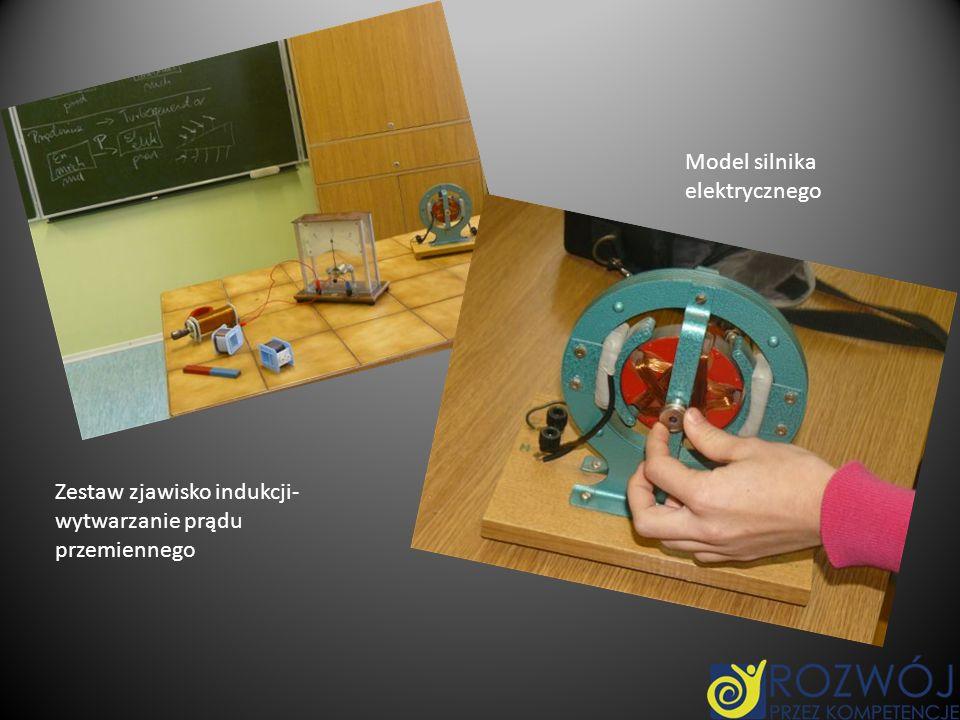 Zestaw zjawisko indukcji- wytwarzanie prądu przemiennego Model silnika elektrycznego