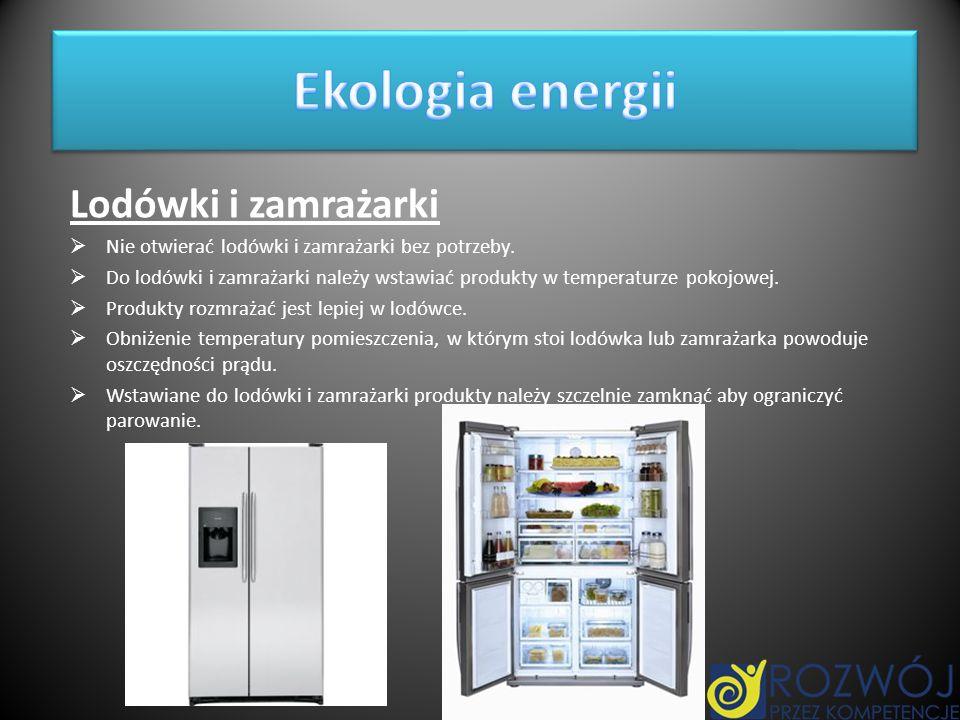 Lodówki i zamrażarki Nie otwierać lodówki i zamrażarki bez potrzeby. Do lodówki i zamrażarki należy wstawiać produkty w temperaturze pokojowej. Produk