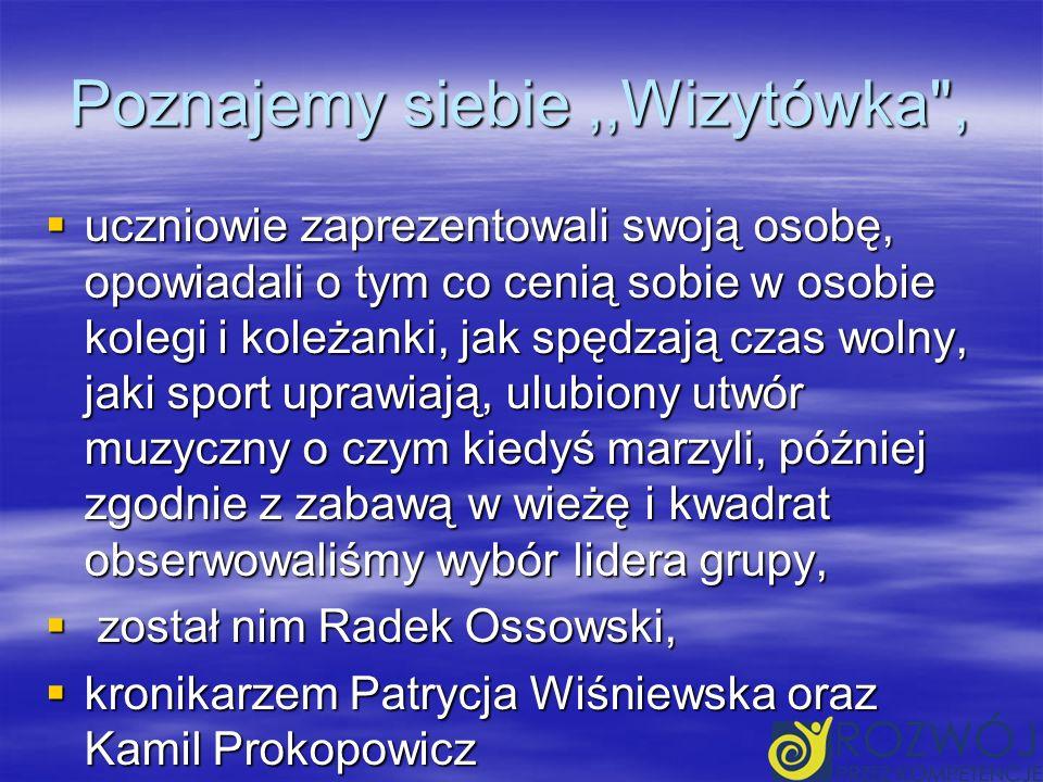 NASZA GRUPA Wiktoria Burczyk, Piotr Doliński, Patrycja Gancarczyk, Paulina Kozłowska, Radosław Ossowski, Patrycja Wiśniewska, Marcin Wojtaś, Weronika