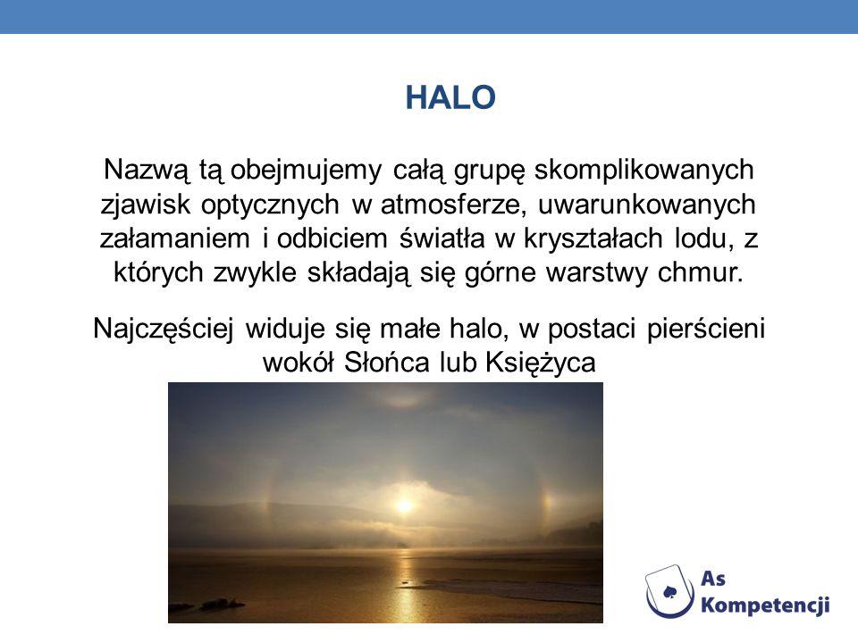 HALO Najbardziej znanym przykładem dużego halo jest słynne, często powtarzające się widmo Brockenu.