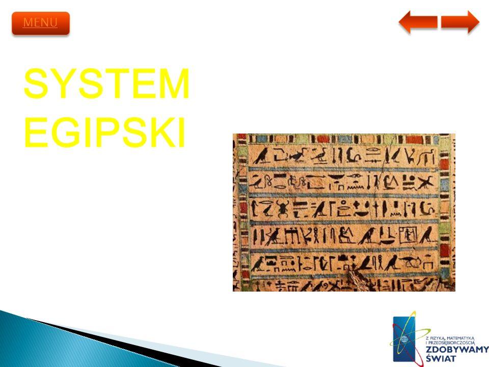 SYSTEM EGIPSKI MENU