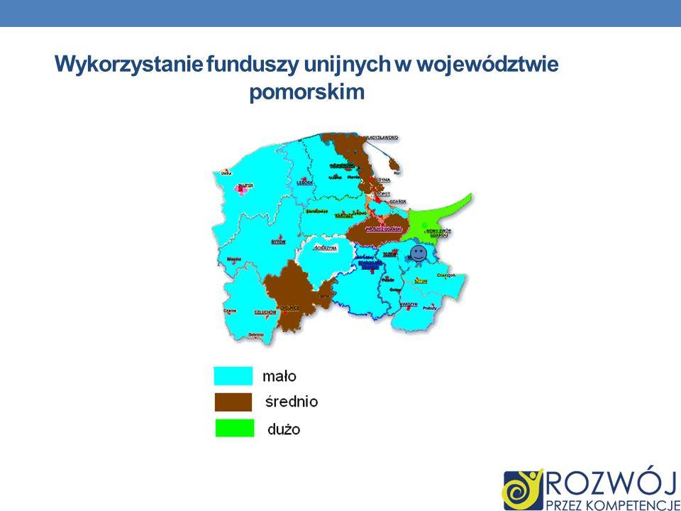 Wykorzystanie funduszy unijnych w województwie pomorskim