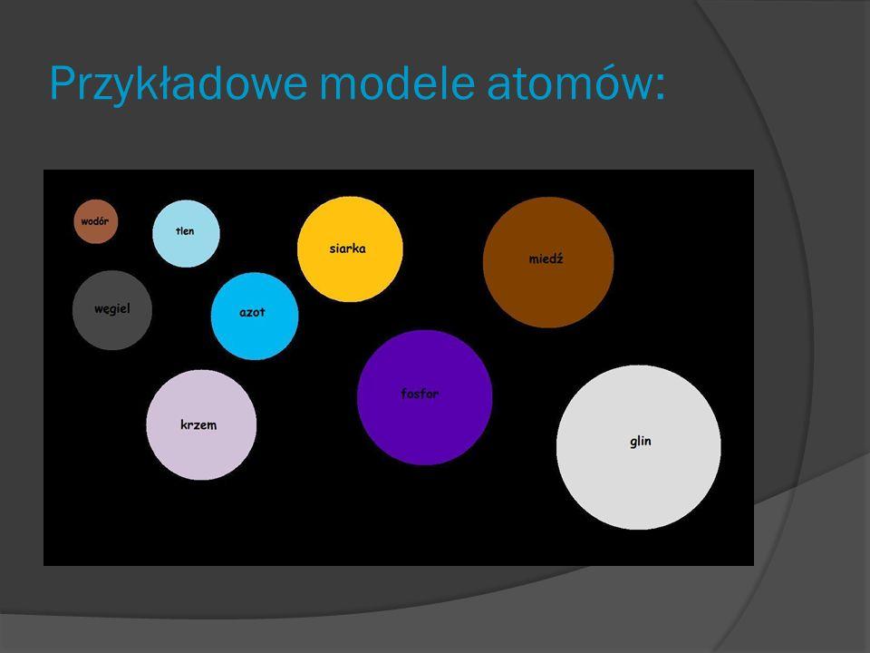 Przykładowe modele atomów: