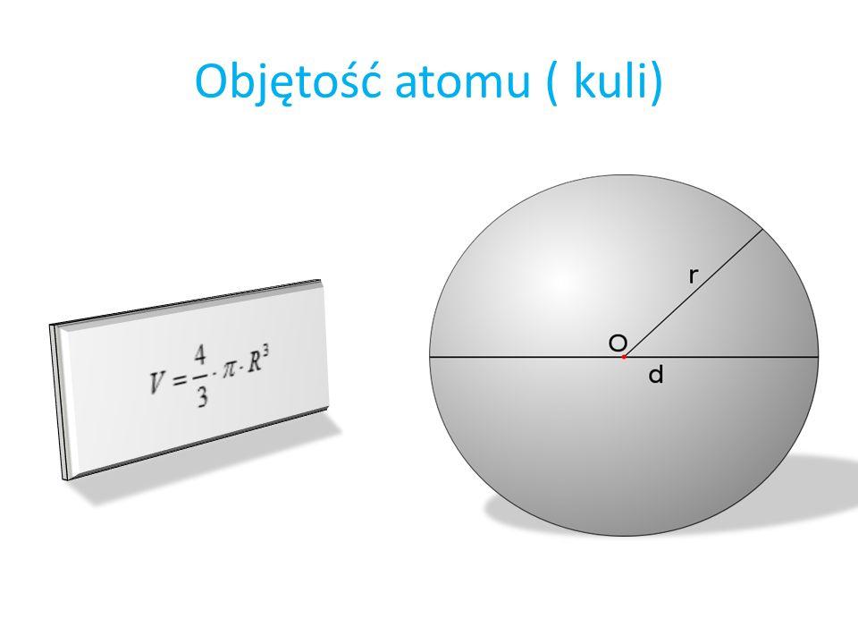 Objętość atomu ( kuli)