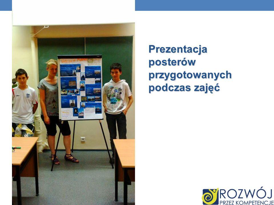 Prezentacja posterów przygotowanych podczas zajęć