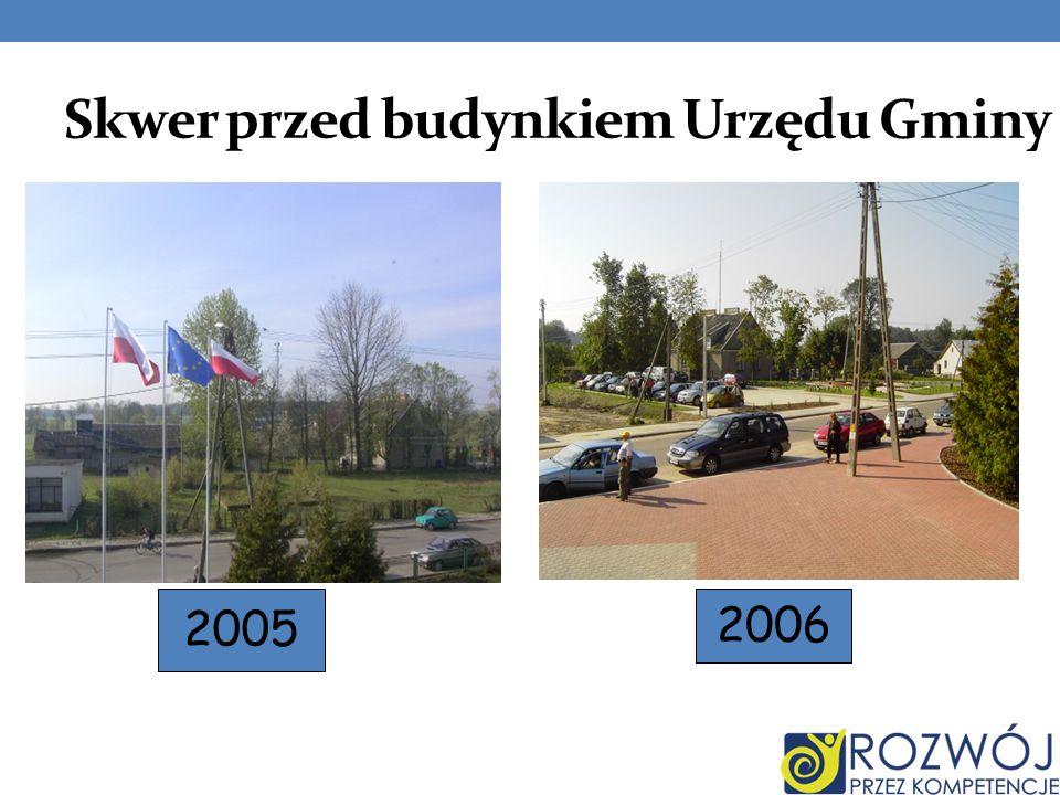 Skwer przed budynkiem Urzędu Gminy 2005 2006