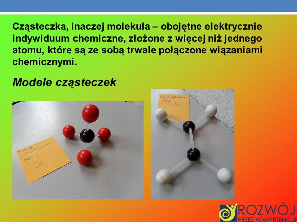 Cząsteczka, inaczej molekuła – obojętne elektrycznie indywiduum chemiczne, złożone z więcej niż jednego atomu, które są ze sobą trwale połączone wiąza