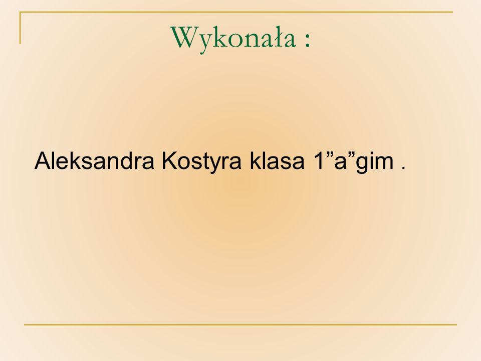 Wykonała : Aleksandra Kostyra klasa 1agim.