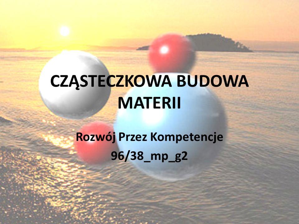 CZĄSTECZKOWA BUDOWA MATERII Rozwój Przez Kompetencje 96/38_mp_g2
