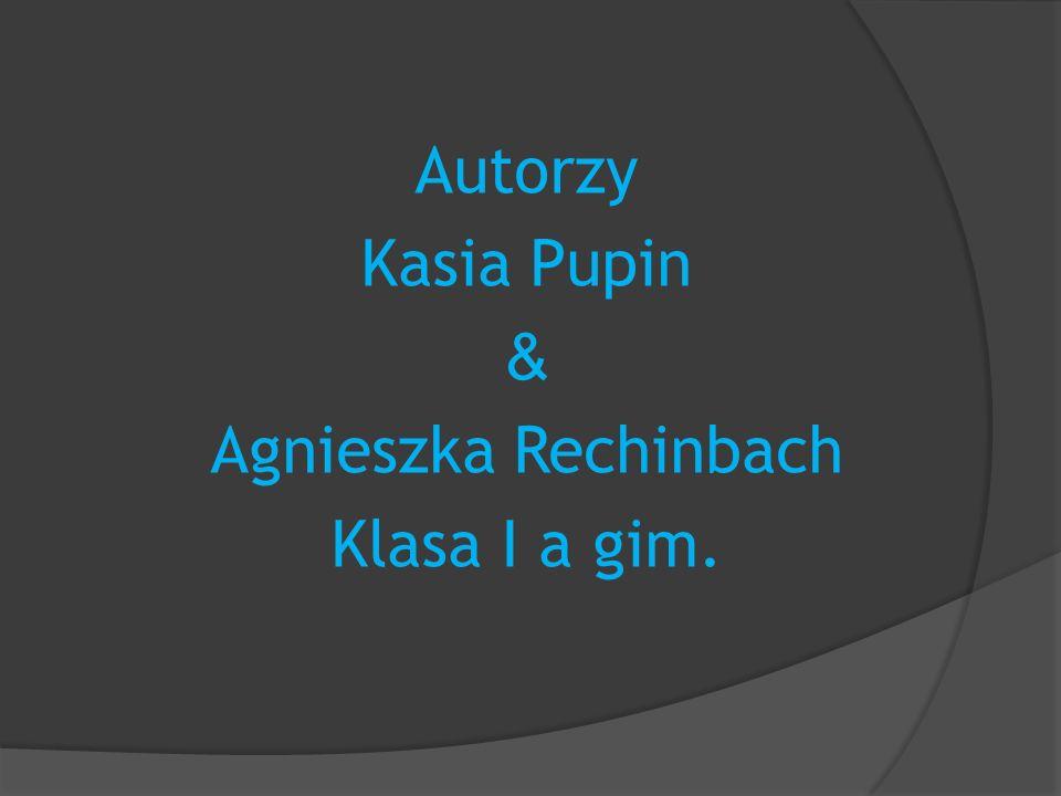 Autorzy Kasia Pupin & Agnieszka Rechinbach Klasa I a gim.