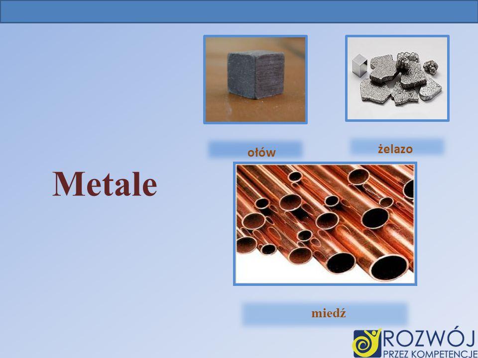 Metale Ołów ołów żelazo miedź