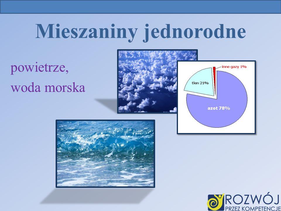 Mieszaniny jednorodne powietrze, woda morska