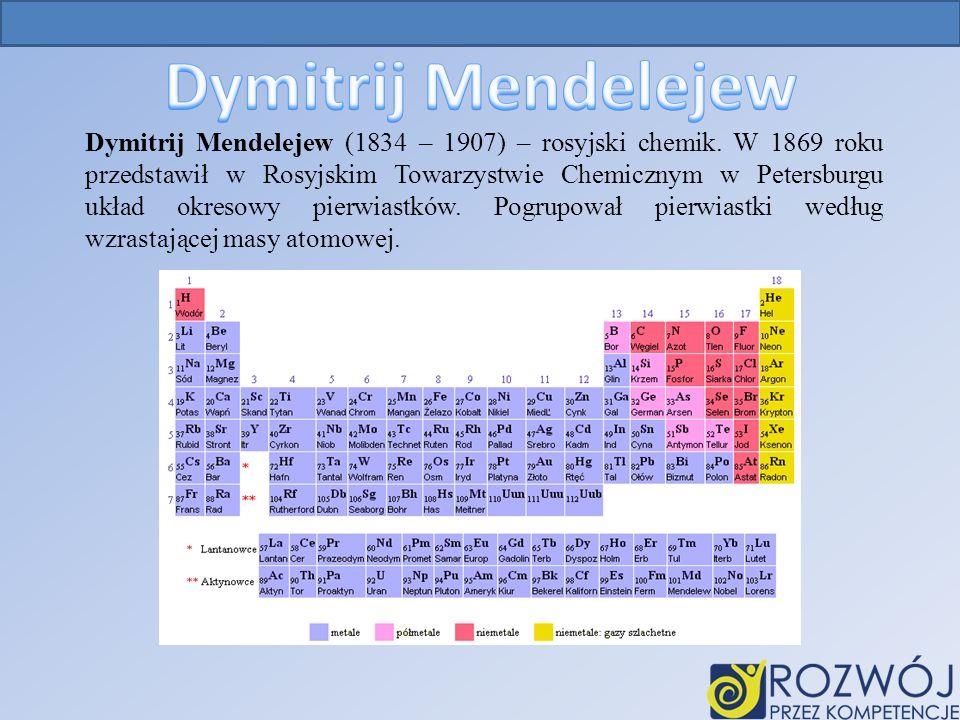 Dymitrij Mendelejew (1834 – 1907) – rosyjski chemik.