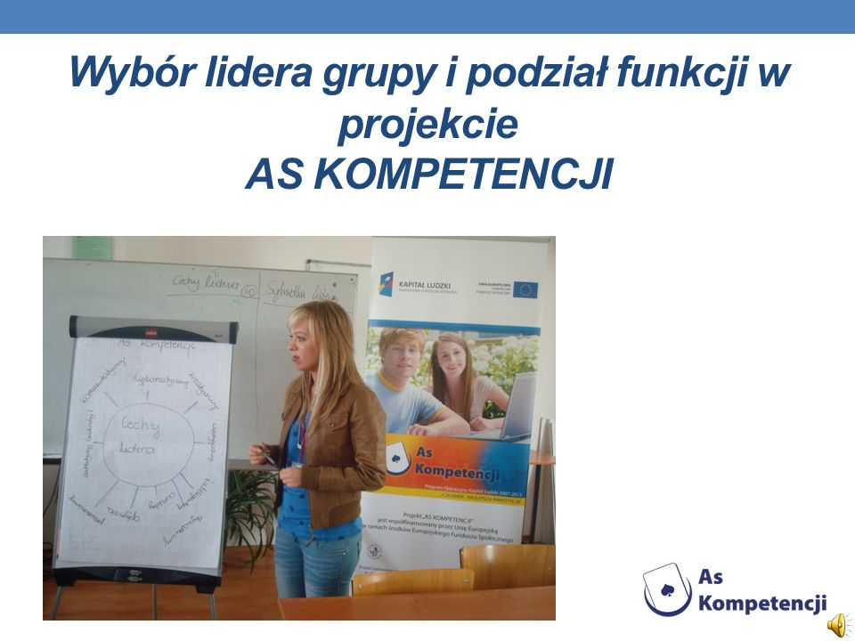 Wybór lidera grupy i podział funkcji w projekcie AS KOMPETENCJI