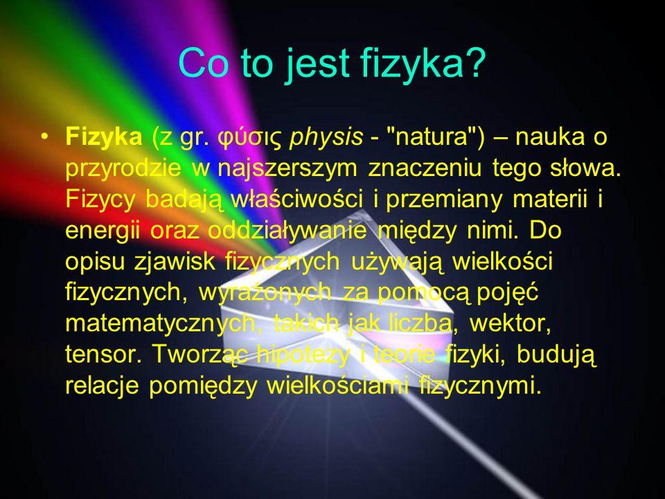 Co to jest fizyka? Fizyka (z gr. φύσις physis -