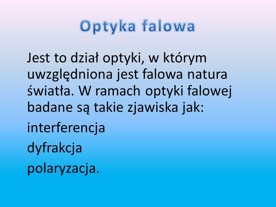 Optyka kwantowa – dział optyki, w ramach którego analizowane są zjawiska, w których światło musi być opisywane jako cząstka inaczej foton mająca cechy