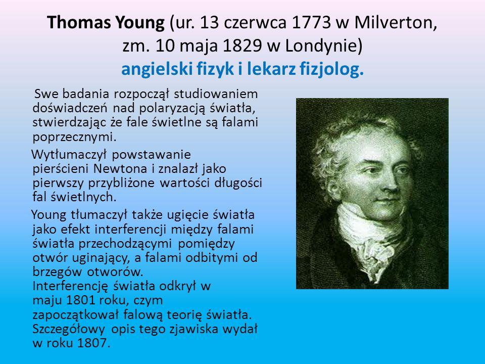 Izaak Newton badał załamanie (refrakcję) światła, pokazując, że pryzmat może rozszczepić białe światło w widmo barw, a potem soczewka i drugi pryzmat