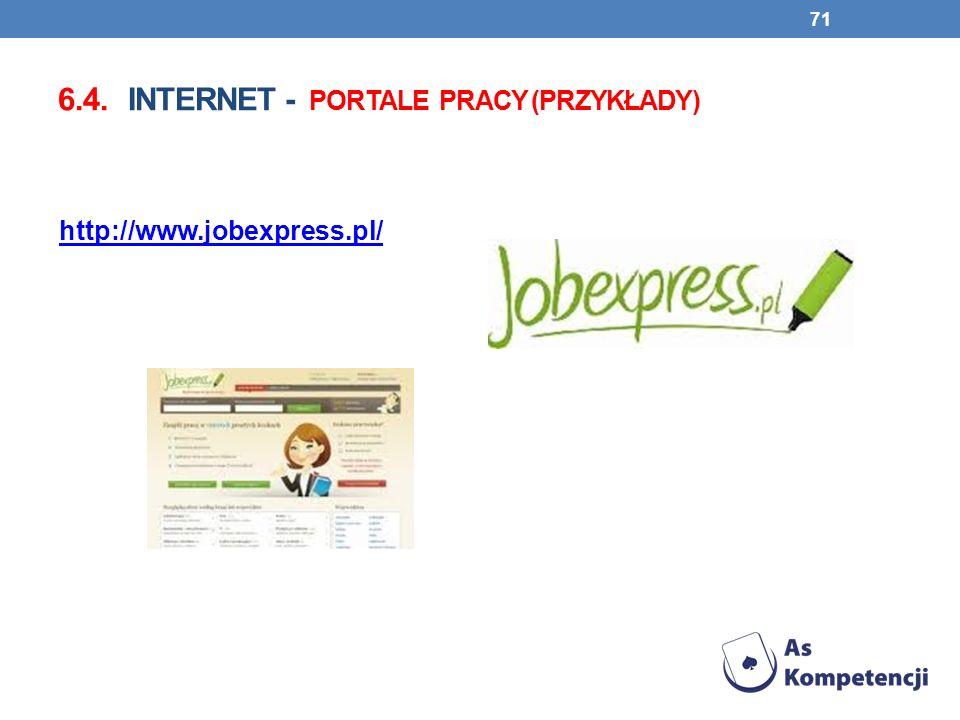 6.4. INTERNET - PORTALE PRACY (PRZYKŁADY) 71 http://www.jobexpress.pl/