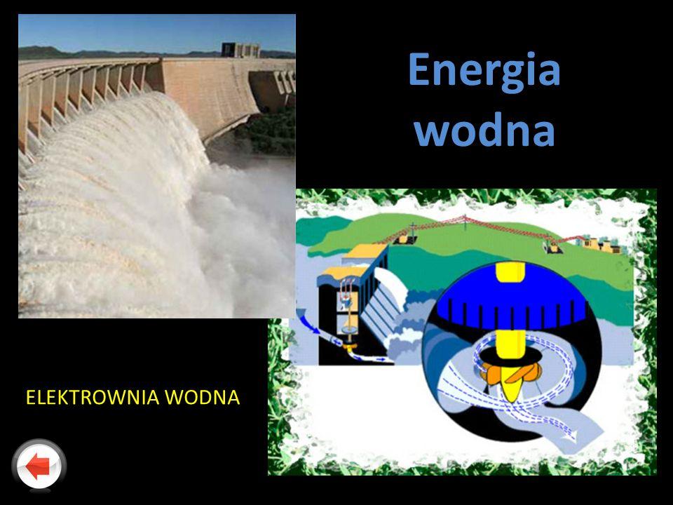 Energia wodna ELEKTROWNIA WODNA