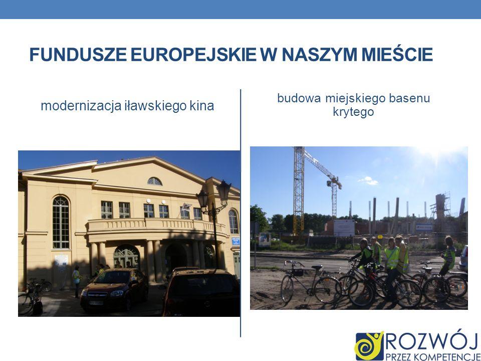 FUNDUSZE EUROPEJSKIE W NASZYM MIEŚCIE modernizacja iławskiego kina budowa miejskiego basenu krytego