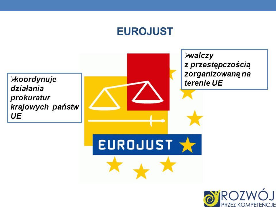 EUROJUST koordynuje działania prokuratur krajowych państw UE walczy z przestępczością zorganizowaną na terenie UE