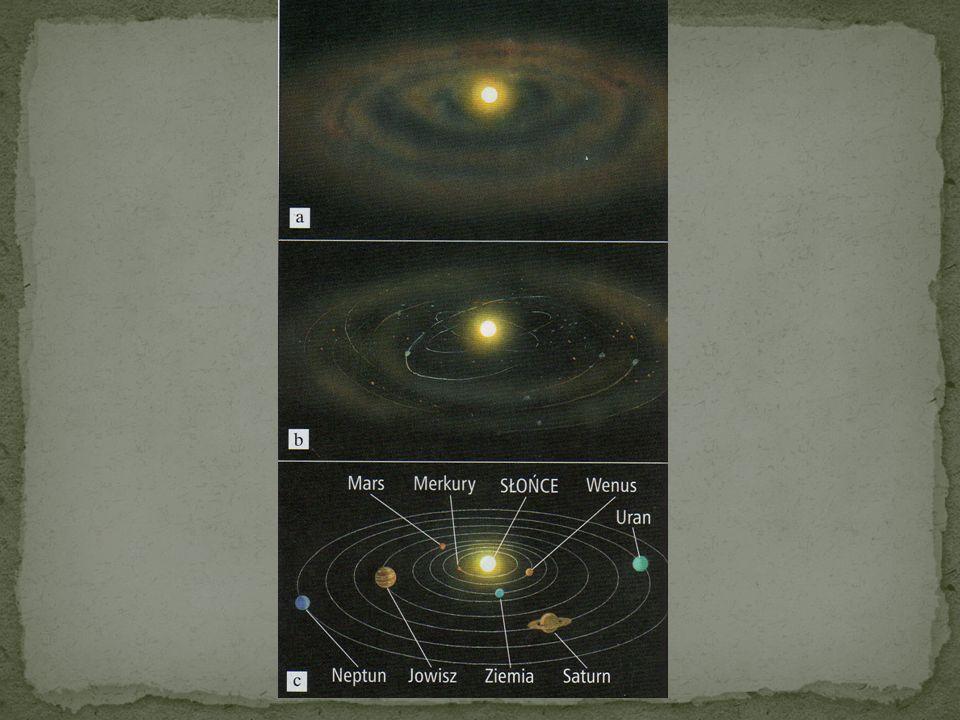 Materia istniejąca blisko Słońca w bardzo dalekiej przeszłości miała prawdopodobnie postać gazu i pyłu. Uformowała się ona na kształt ogromnego pierśc