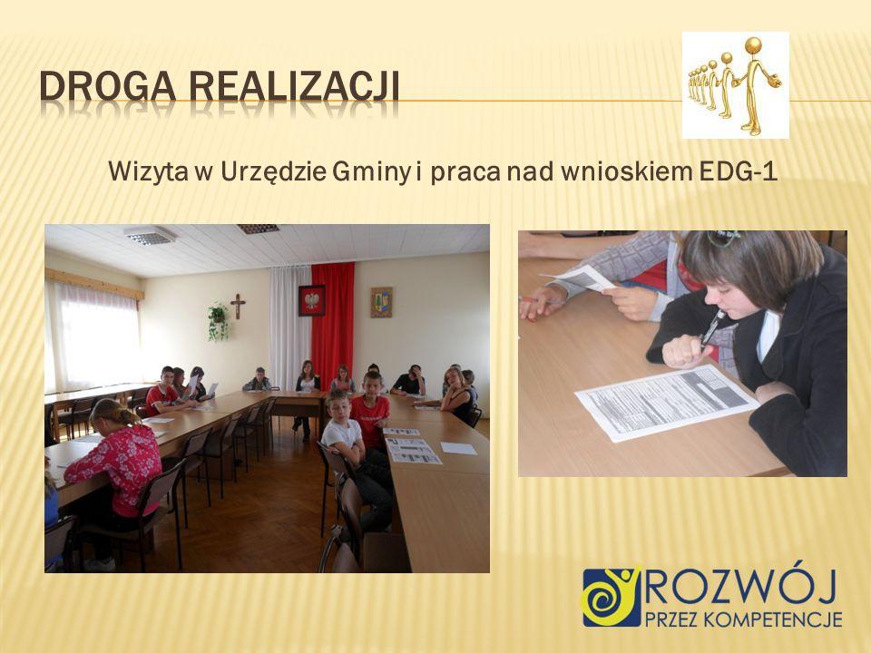 Wizyta w Urzędzie Gminy i praca nad wnioskiem EDG-1