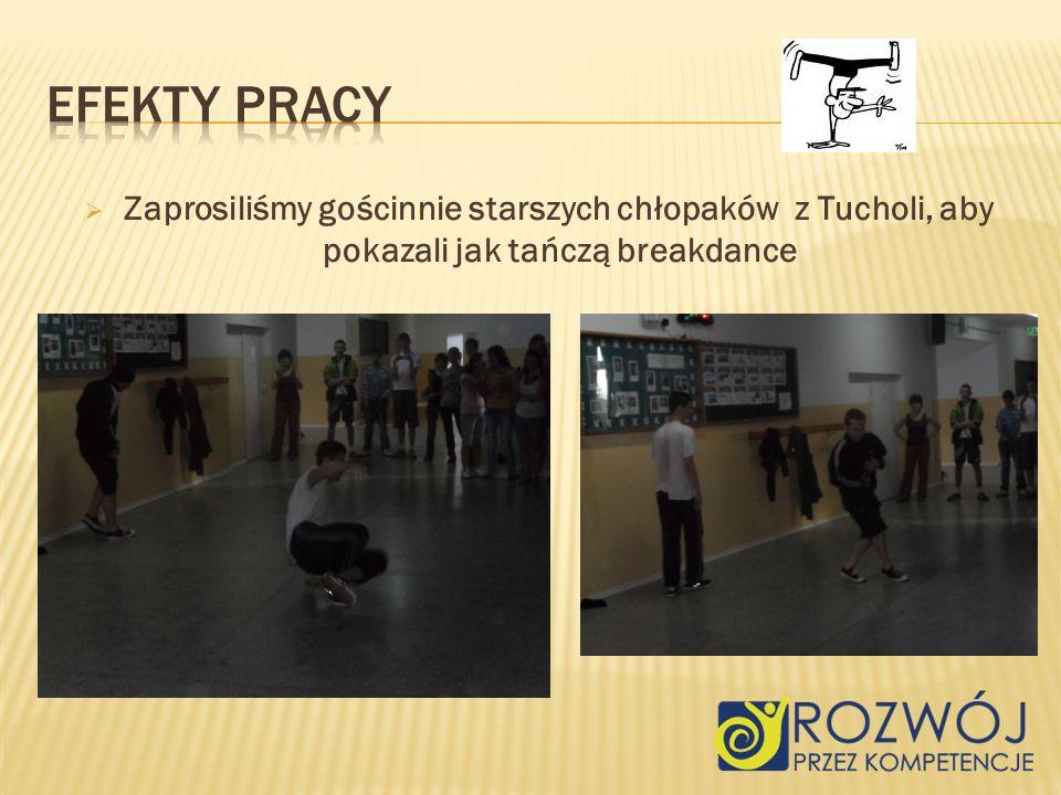 Zaprosiliśmy gościnnie starszych chłopaków z Tucholi, aby pokazali jak tańczą breakdance