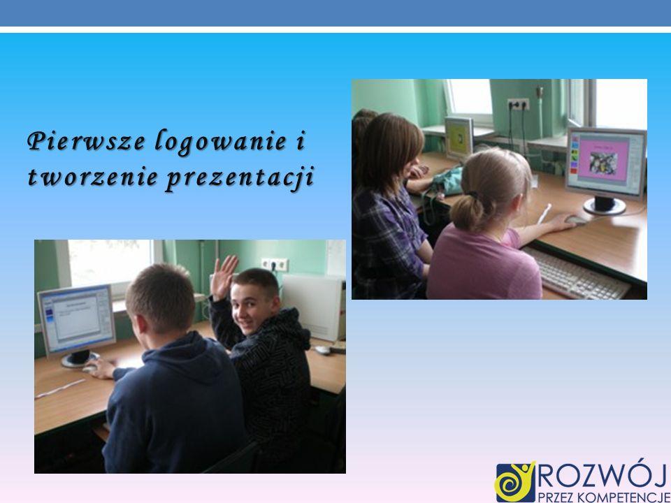 Pierwsze logowanie i tworzenie prezentacji
