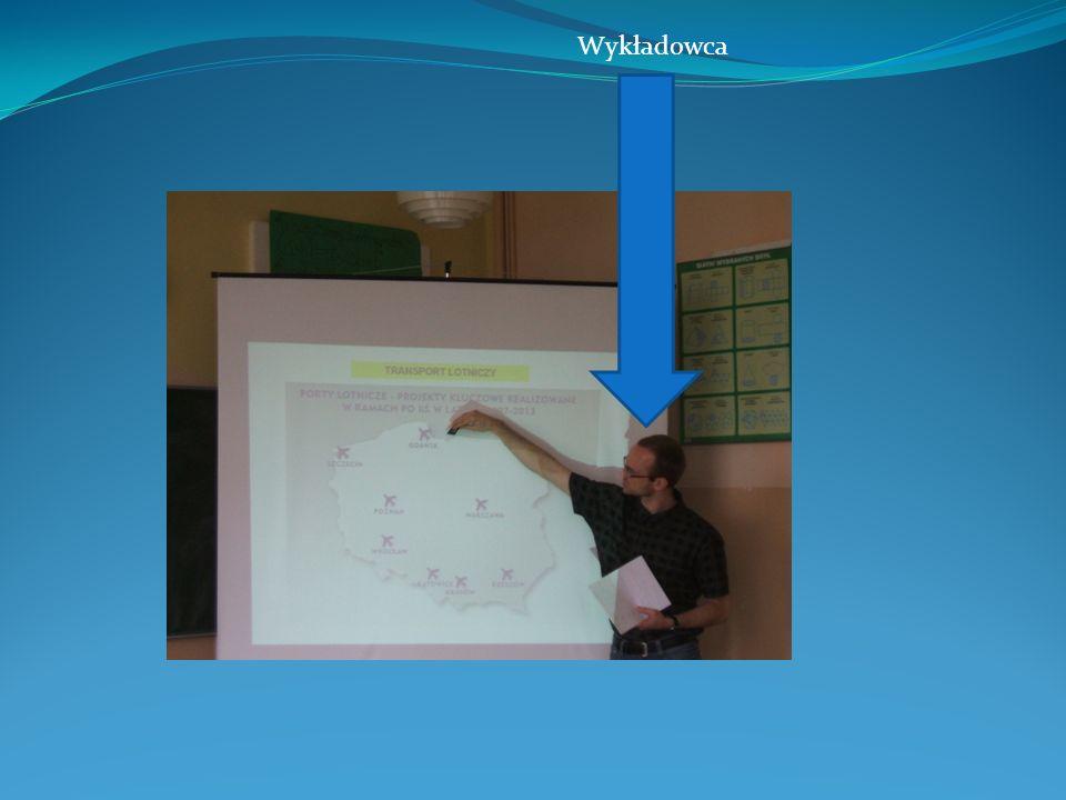 Braliśmy także udział w wykładzie prowadzonym przez pana, który przyjechał z Gdańska.