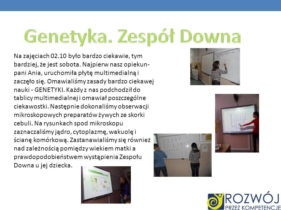 Na zajęciach 02.10 było bardzo ciekawie, tym bardziej, że jest sobota. Najpierw nasz opiekun- pani Ania, uruchomiła płytę multimedialną i zaczęło się.