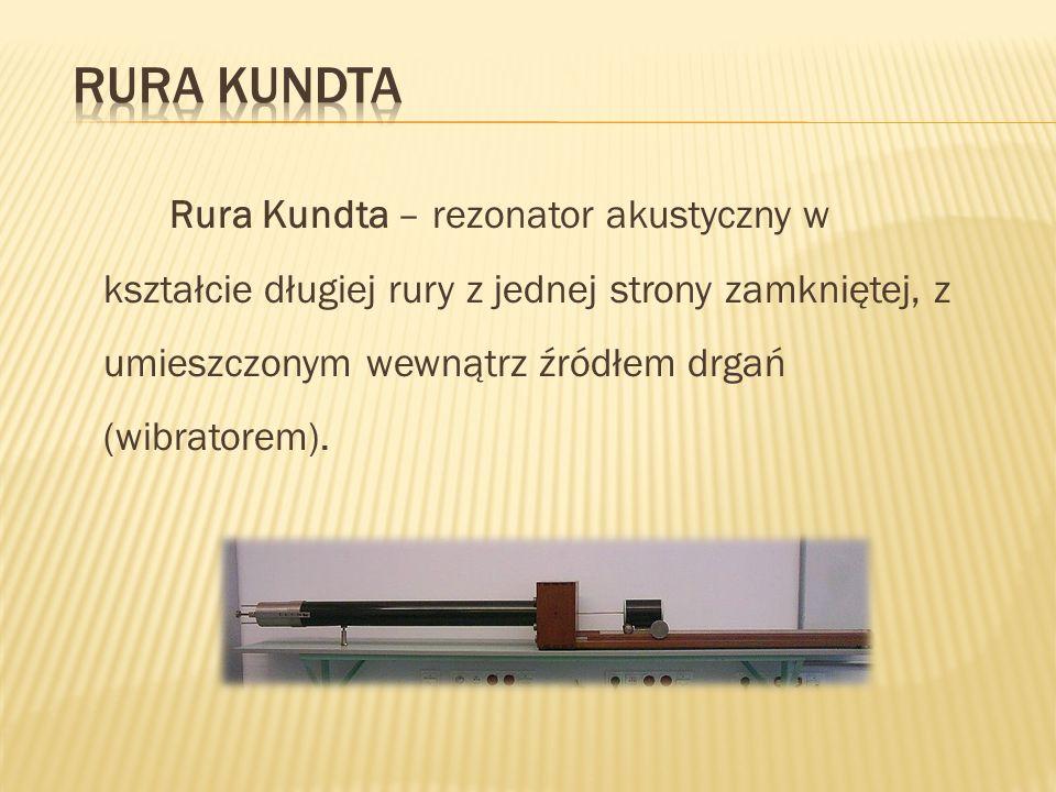 Rura Kundta – rezonator akustyczny w kształcie długiej rury z jednej strony zamkniętej, z umieszczonym wewnątrz źródłem drgań (wibratorem).
