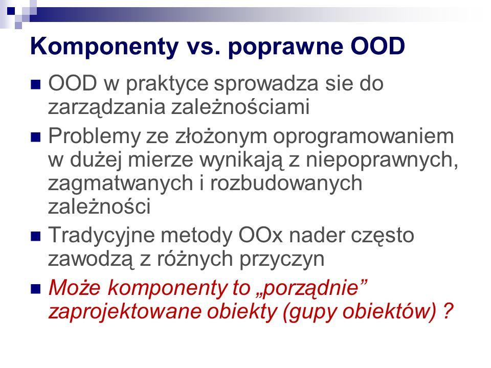 Komponenty vs.