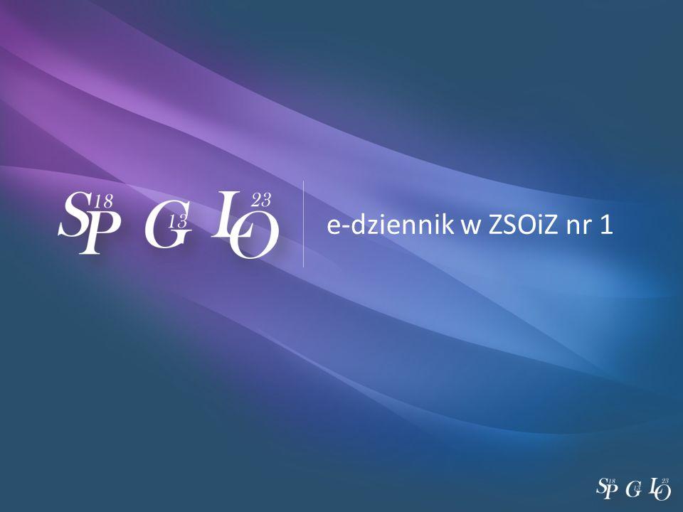 e-dziennik w ZSOiZ nr 1