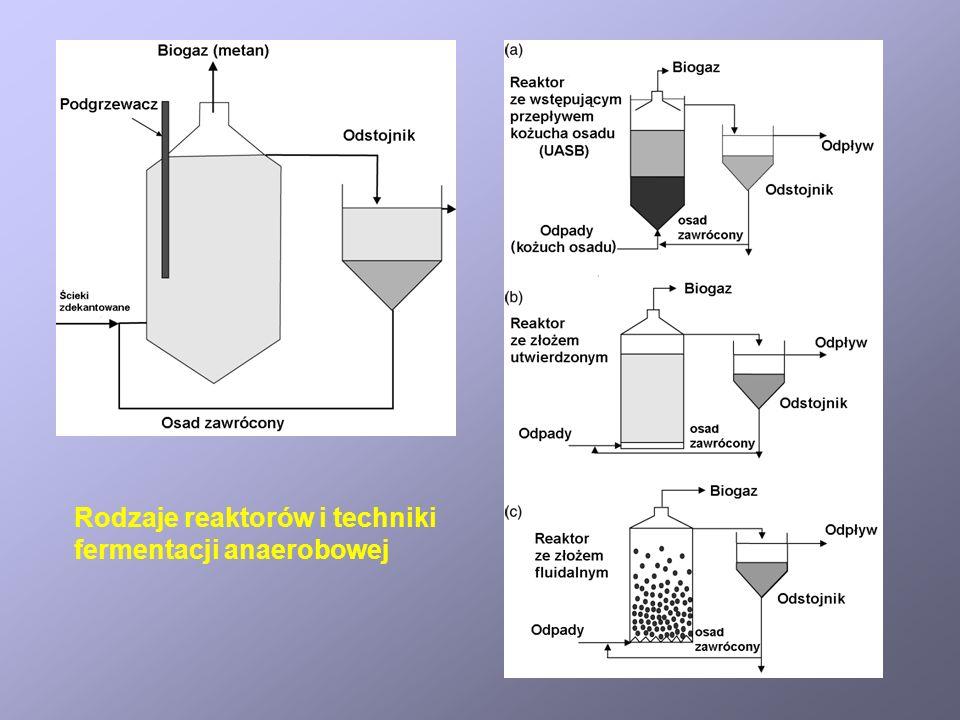 Rodzaje reaktorów i techniki fermentacji anaerobowej
